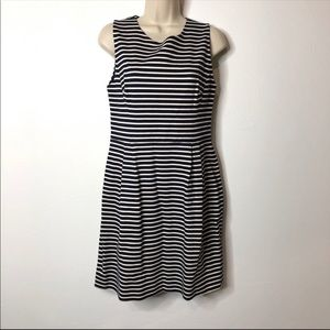 Kate Spade Navy Striped Dress 8 A1